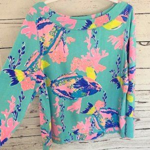 Lilly Pulitzer jojo boatneck pullover shorely blue